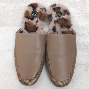 NWOB ZAC Zac Posen Winfield faux fur loafer mule 8